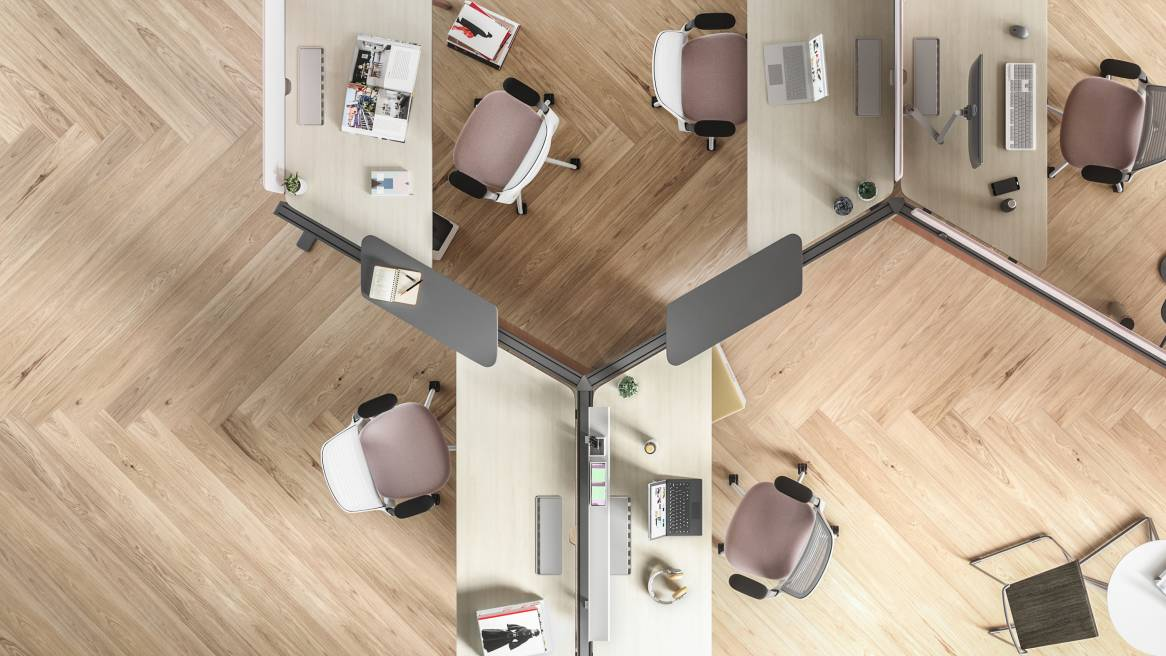Peachy Benching Office Workstations Steelcase Interior Design Ideas Clesiryabchikinfo