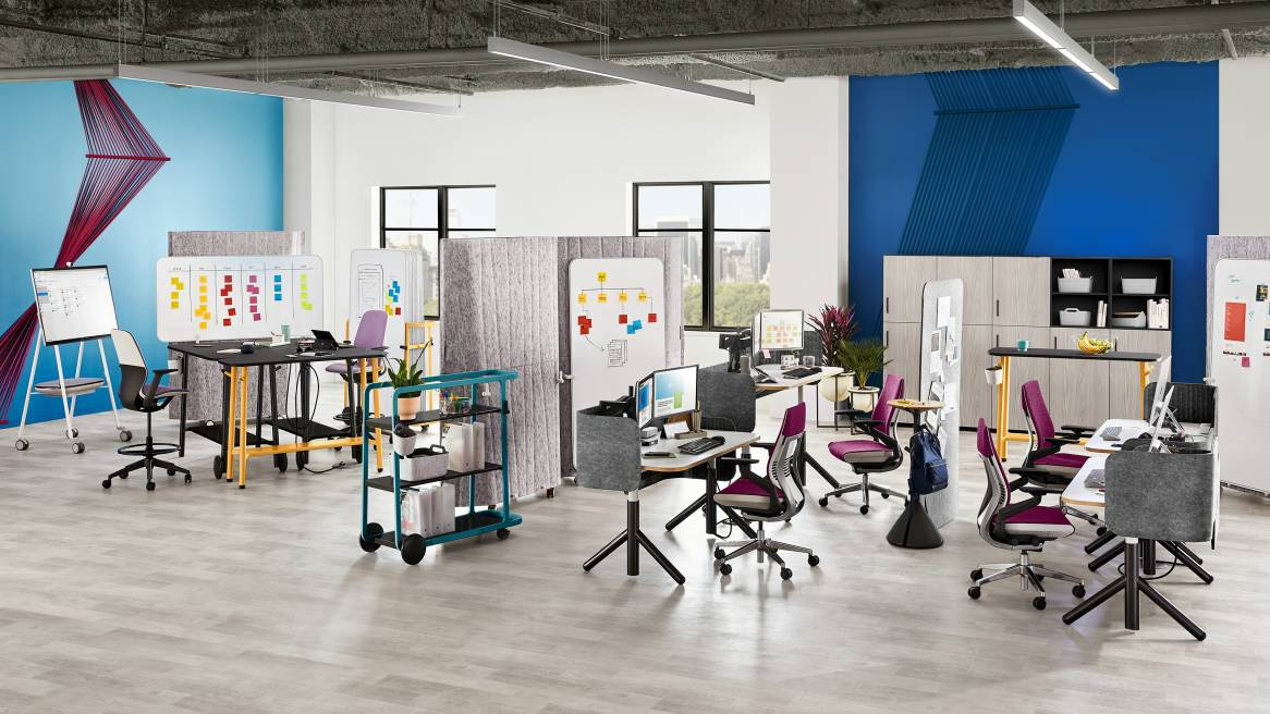 Steelcase flex mobile reconfigurable office furniture - Interior design services near me ...