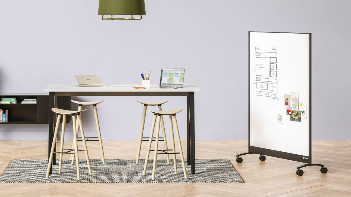 a3 CeramicSteel Mobile, Markerboard, PolyVision