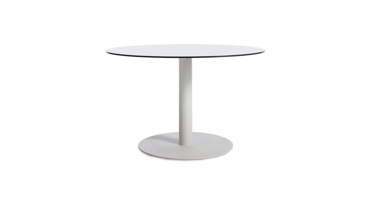 Blu Dot Skiff Outdoor Table on white