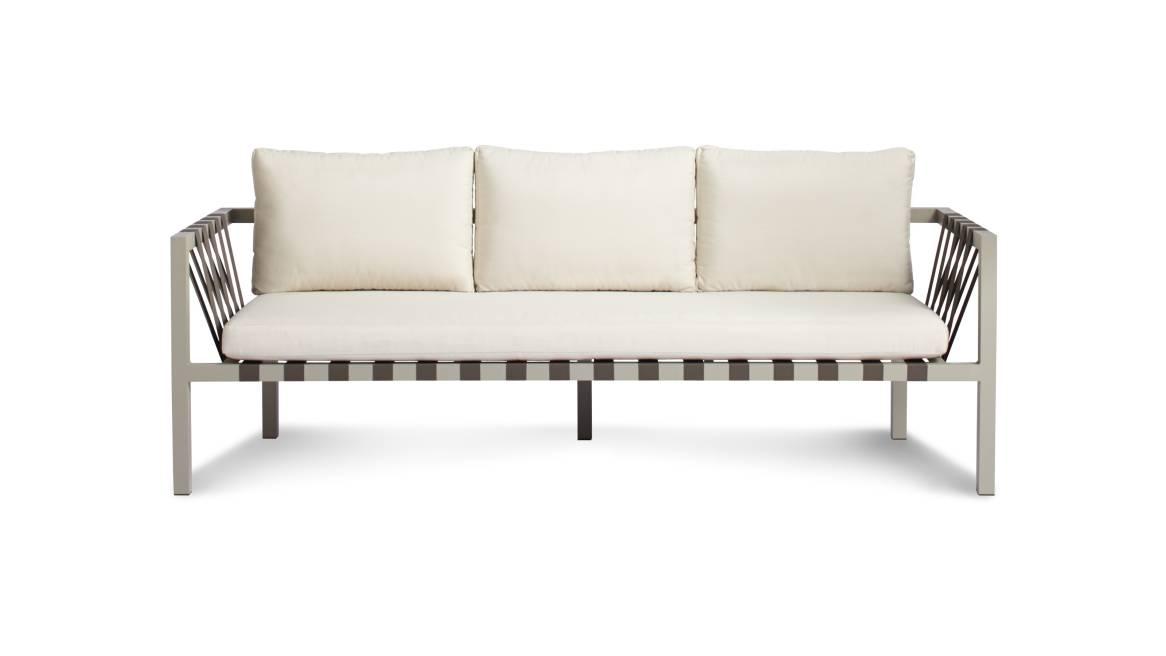 Blu Dot Jibe Outdoor 3 Seat Sofa On White
