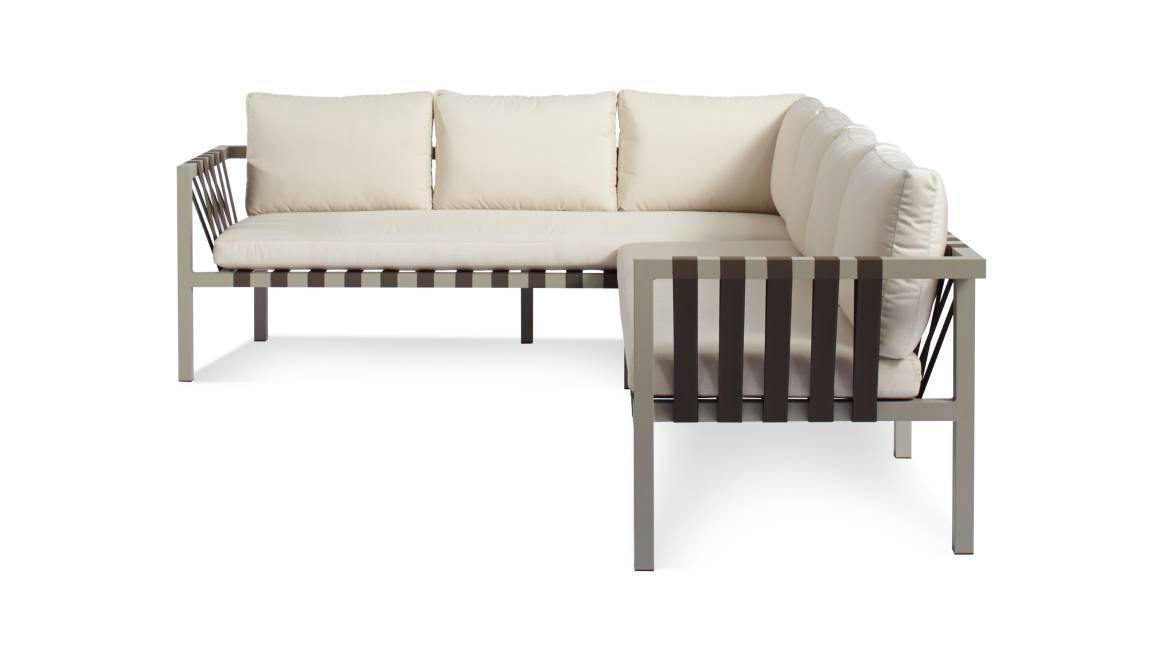 Blu Dot Jibe Outdoor Sectional On White