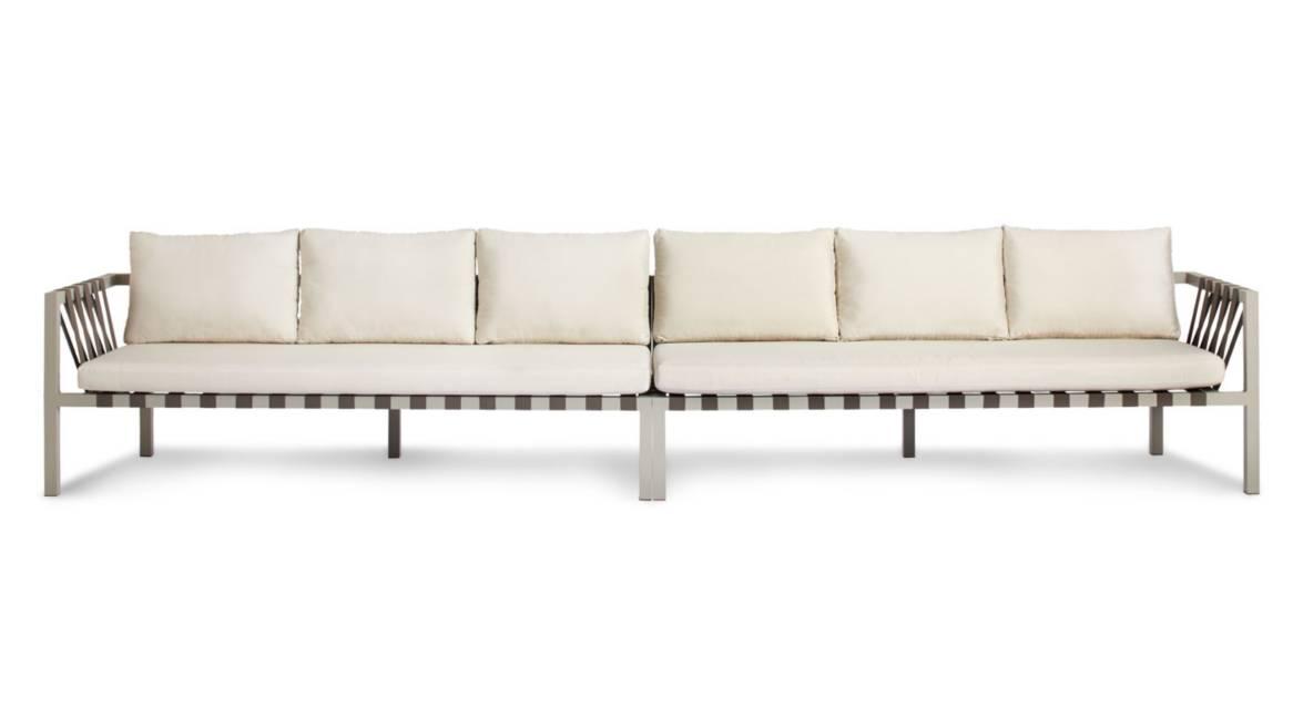 Blu Dot Jibe Outdoor XL Sofa On White