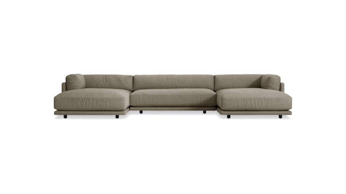 Blu Dot Sunday U-Shaped Sectional Sofa On White