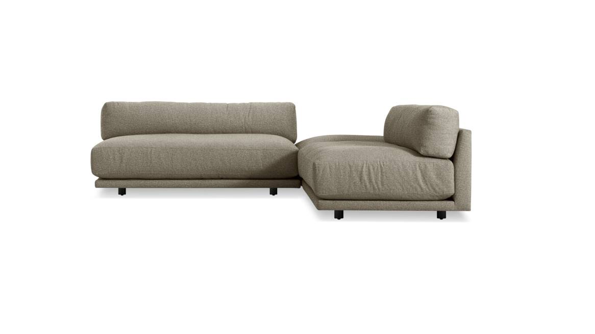 Blu Dot Sunday L Sectional Small On White