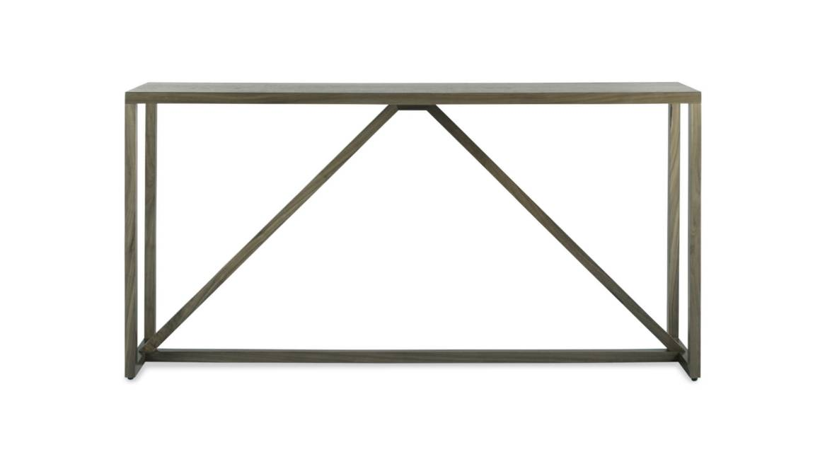 Blu Dot Strut Wood Console Table On White