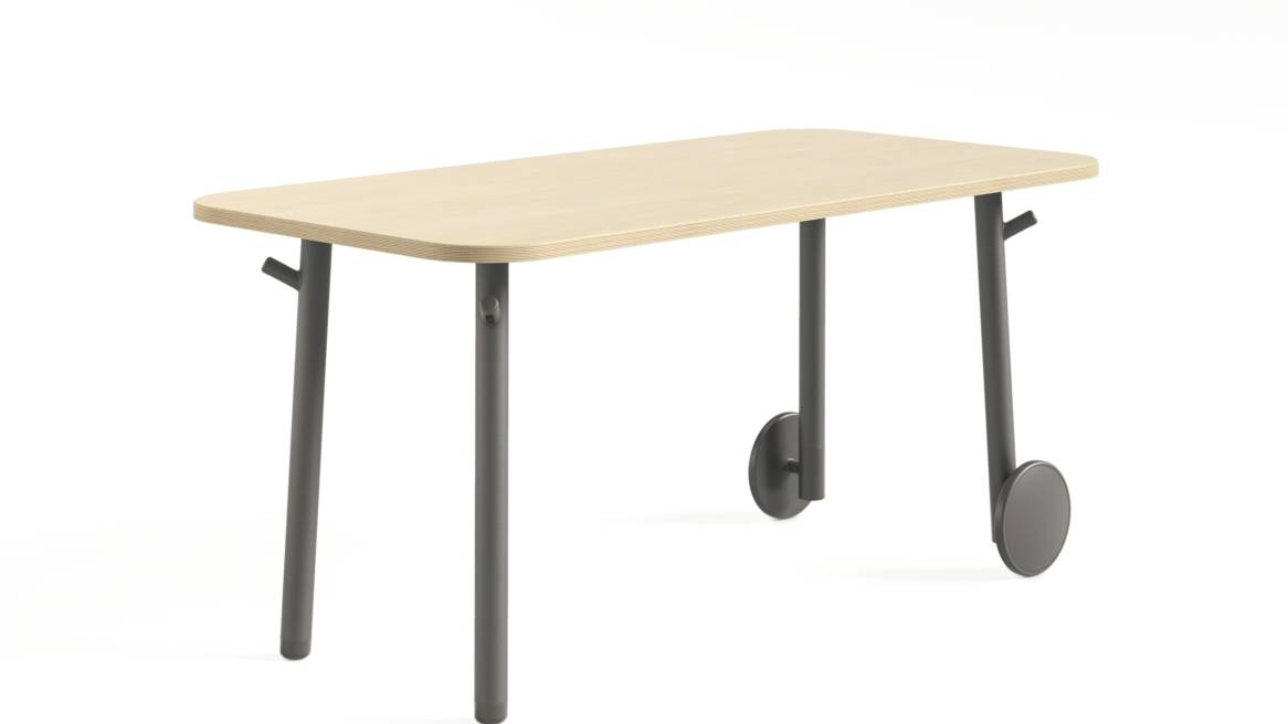 Steelcase Flex Tables on white