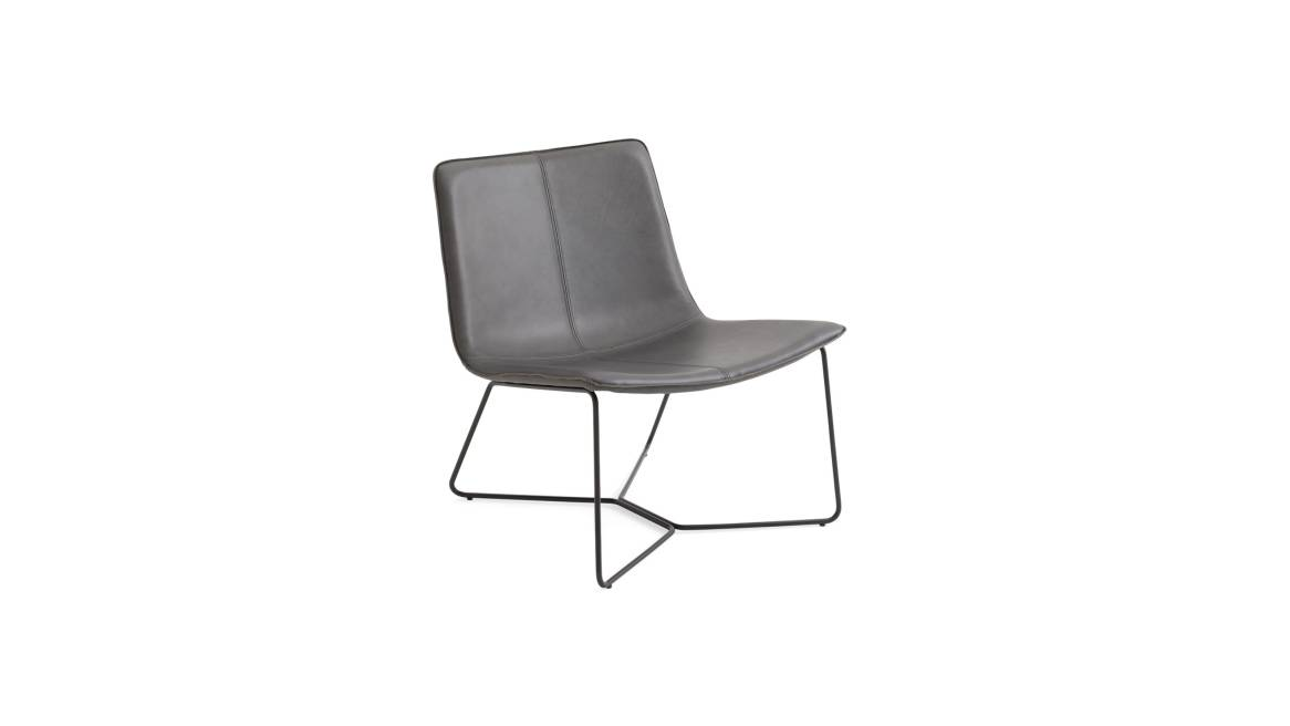 West Elm Work Slope Lounge Chair On White