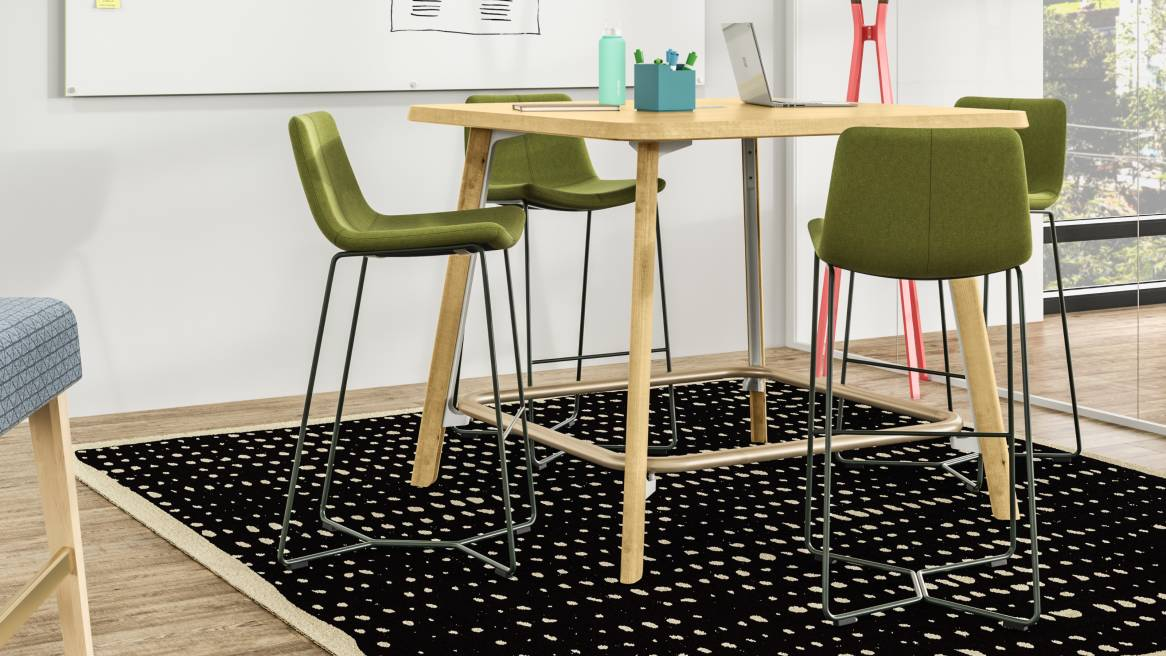 Meeting Zone with West Elm Work Slope Stool