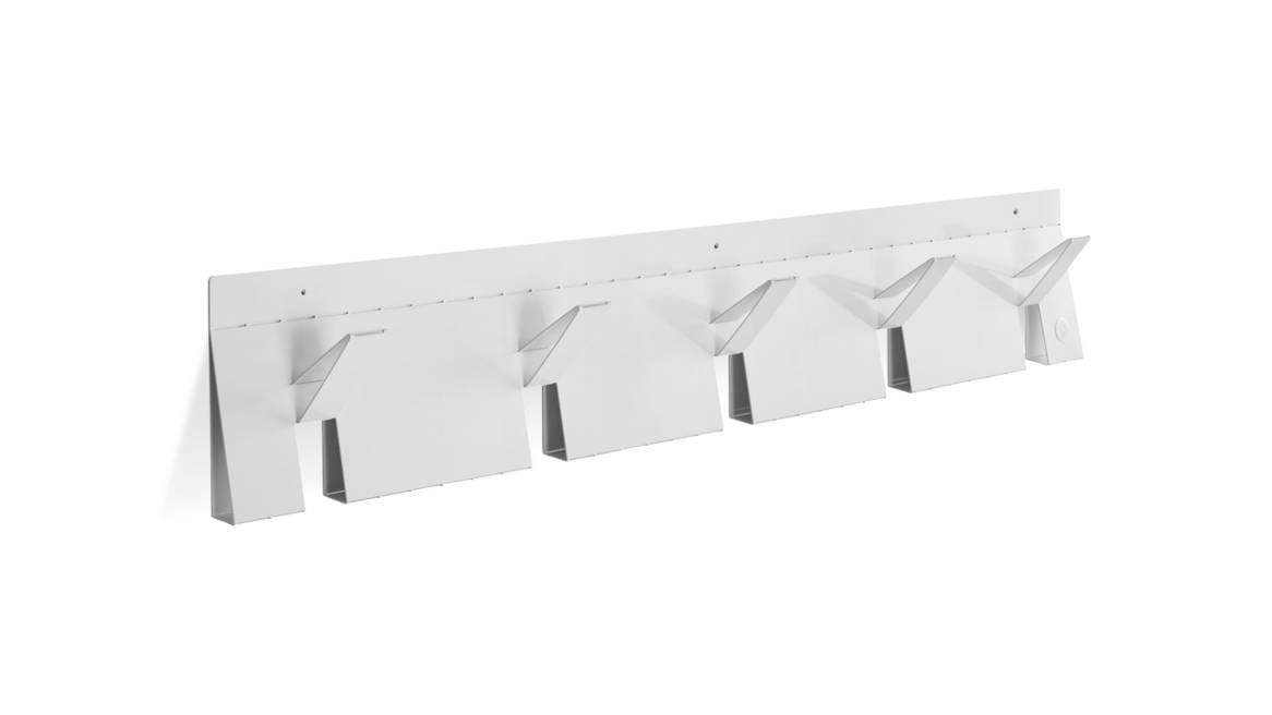 Blu Dot 2D 3D Coat Rack On White