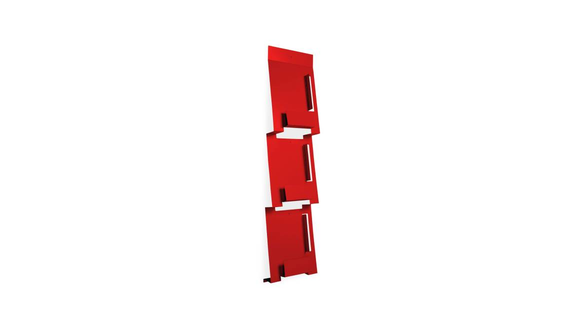 Blu Dot 2D 3D Magazine Rack On White