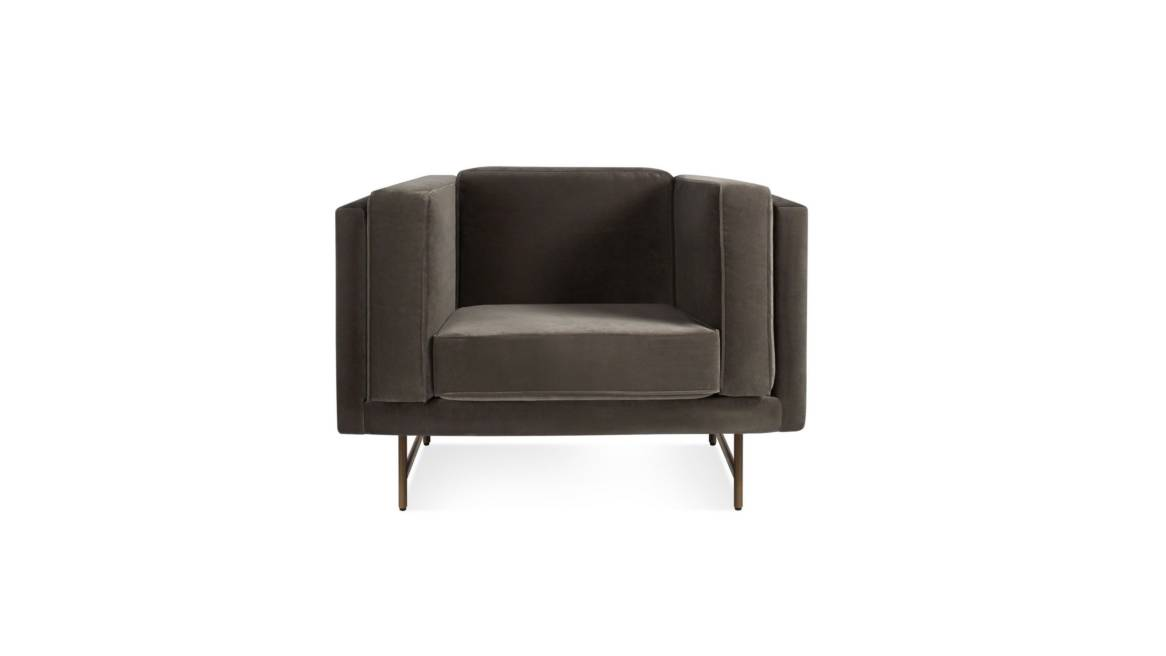 blu dot bank lounge chair header On White
