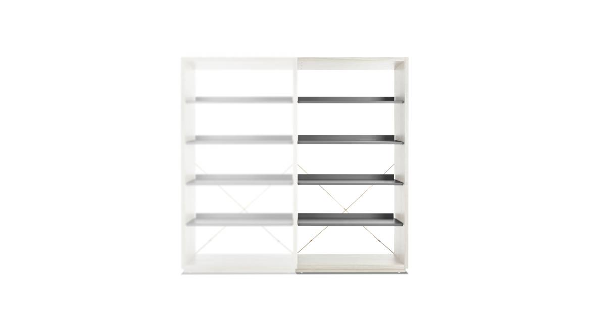 Blu Dot D3 Bookcase Add On On White