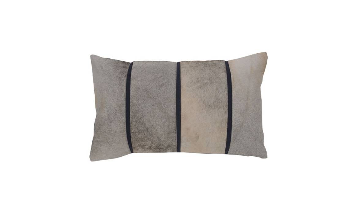 MGBW Linear Hide Throw Pillow On White