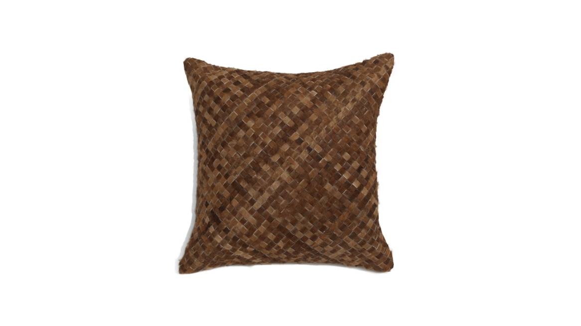 MGBW Woven Hide Pillow On White