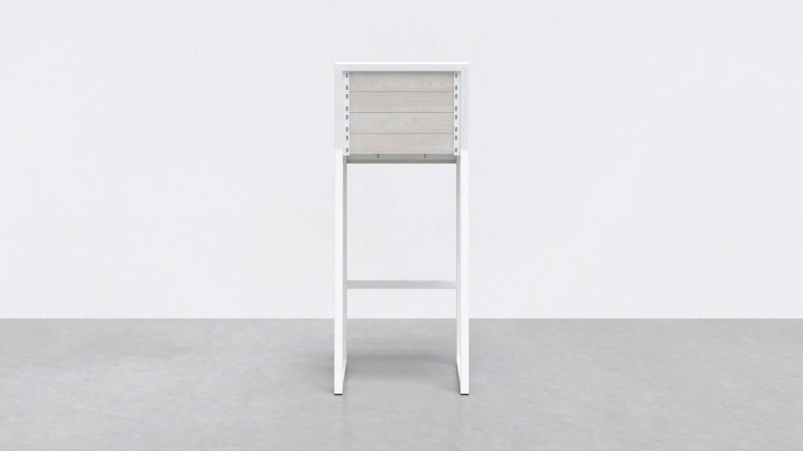 Uhuru 1 x 1 Bar Stool On White