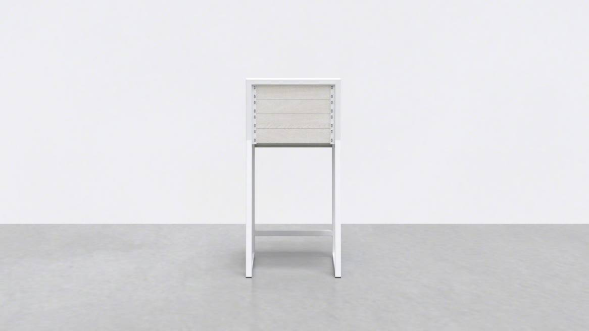 Uhuru 1 x 1 Counter Stool On White
