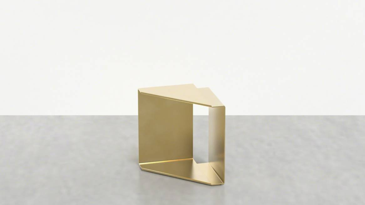 Uhuru Fold Table in Brass On White