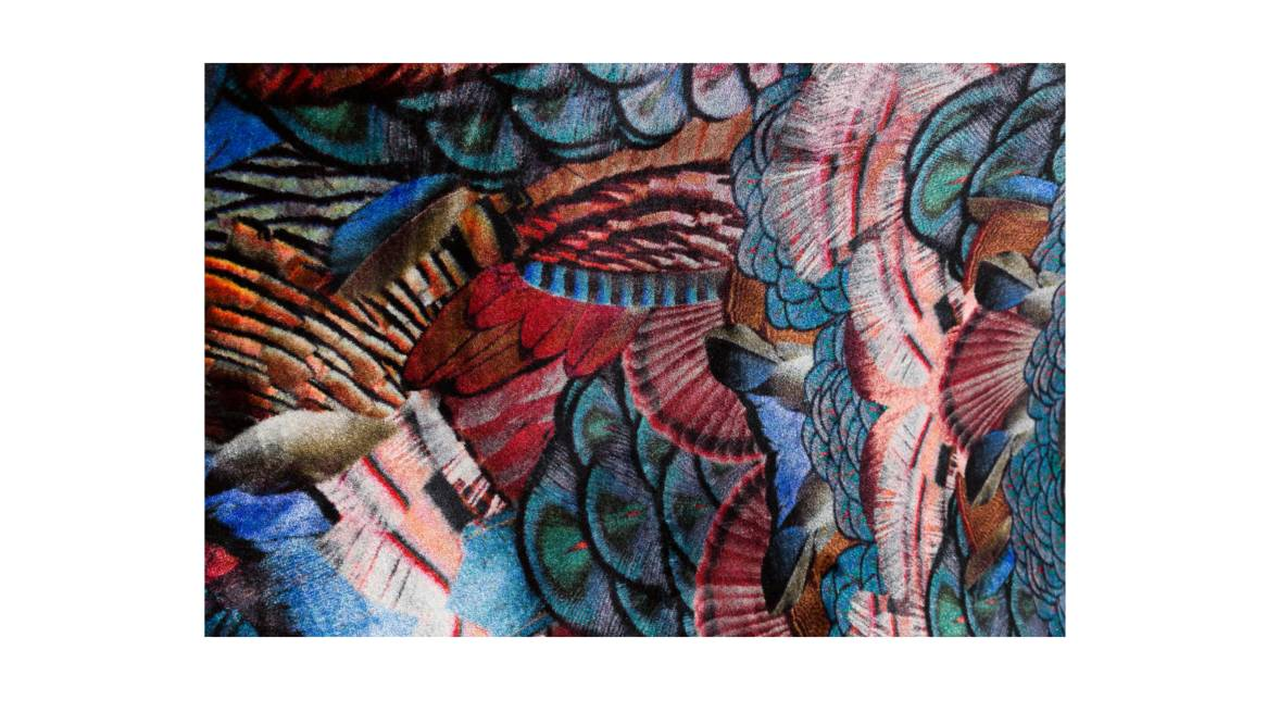 moooi carpets calligraphy birds on white