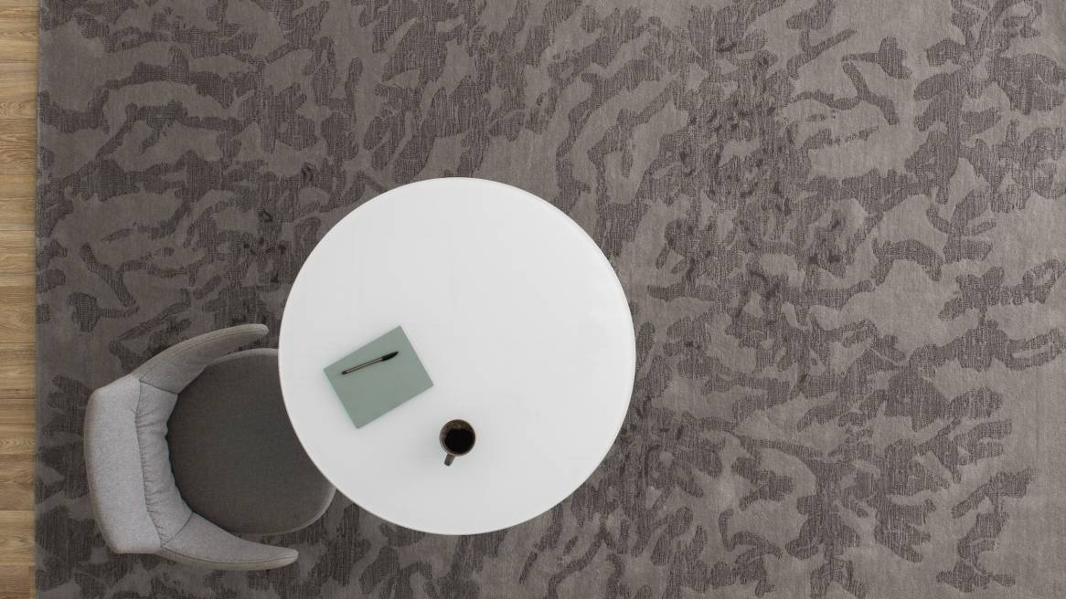 Coalesse Nanimarquina Shadows Rug with chair and table