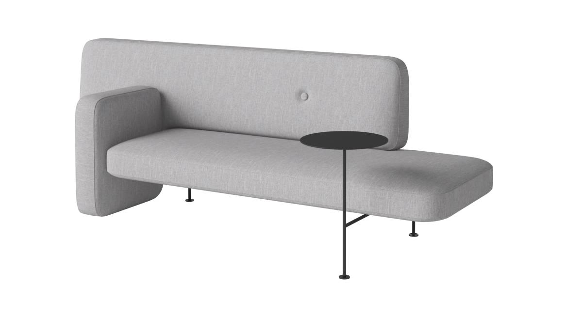 Bolia Pebble Sofa with table and right armrest