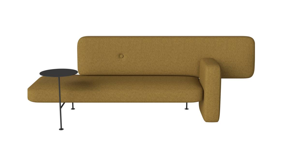 Bolia Pebble Sofa with table and left armrest