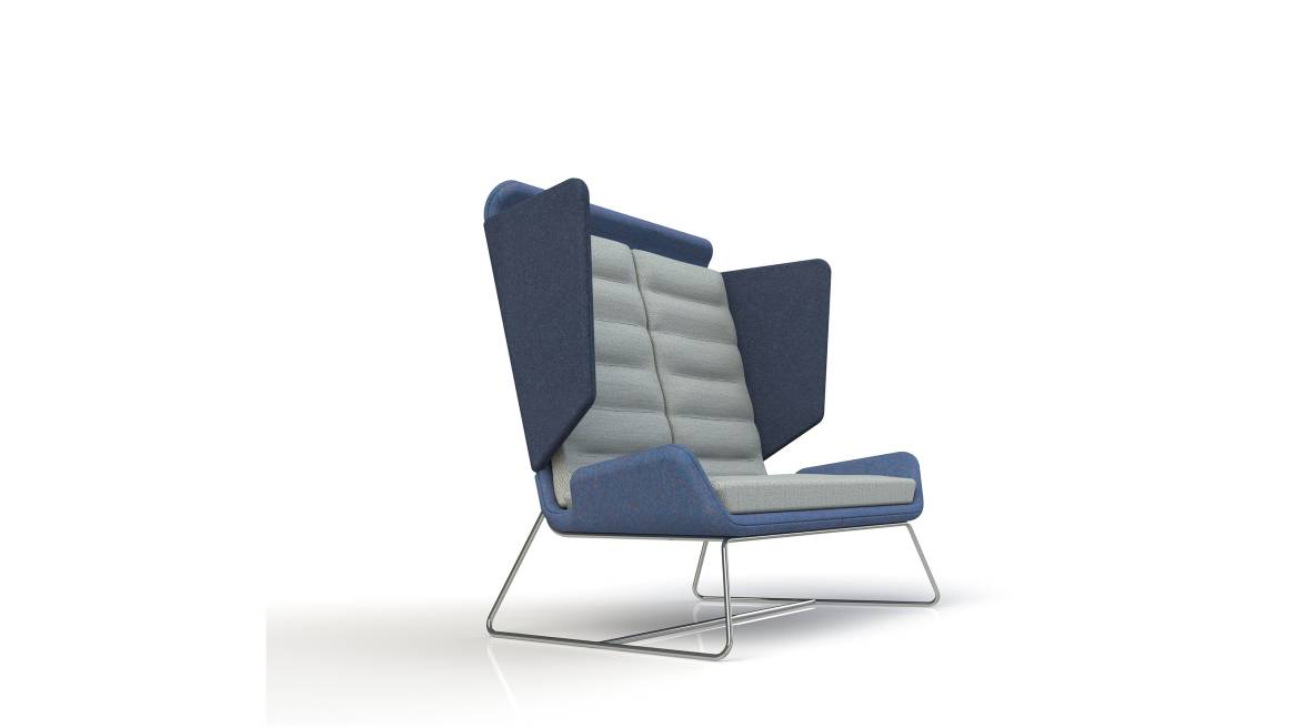 Aden Lounge Chair On White