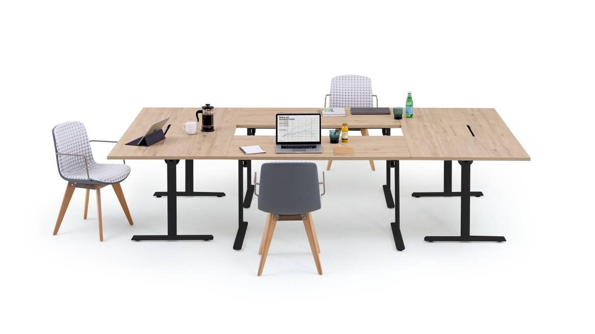 Convo Orangebox Meeting + Classroom Tables On White