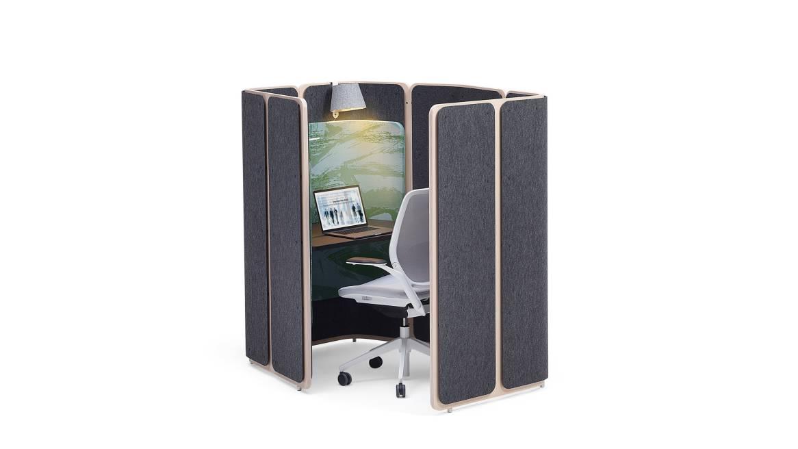 Coppice Orangebox Acoustic Solutions Auf weißem Hintergrund