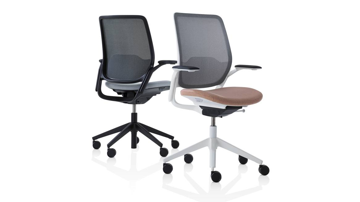 Eva Orangebox Office Chairs On White