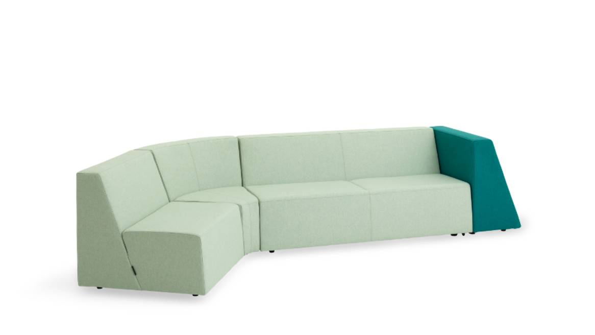 campfire lounge system sofa in green