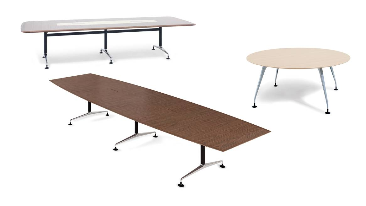 Pars Orangebox Meeting + Classroom Tables on White