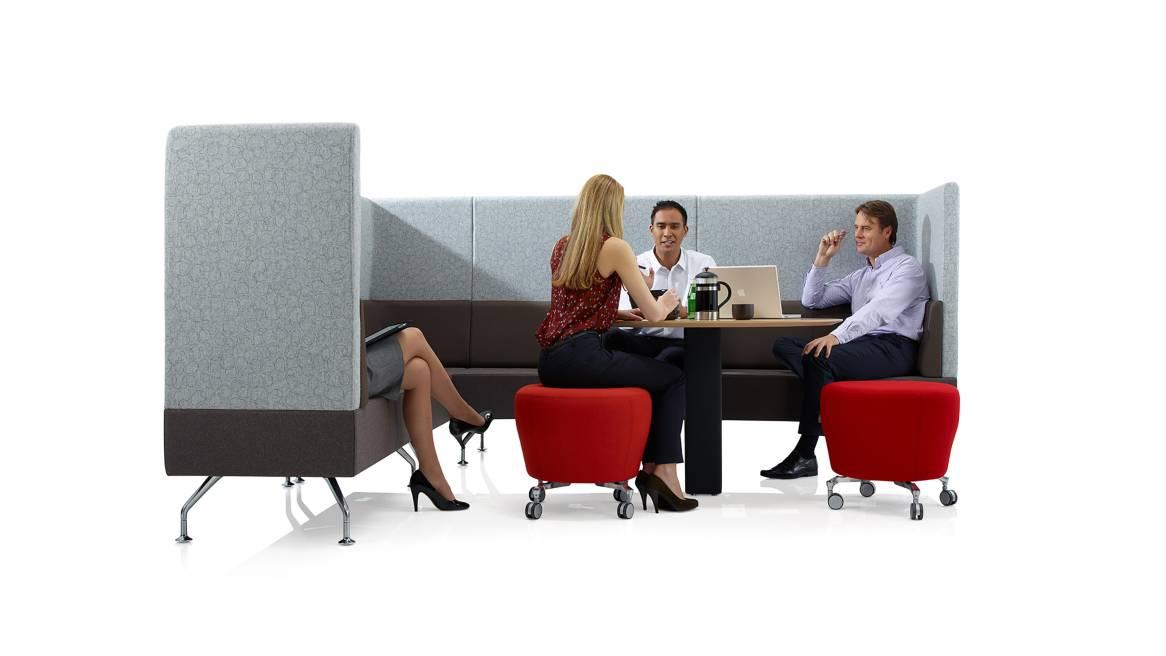 Perimeter Orangebox Lounge Seating on White