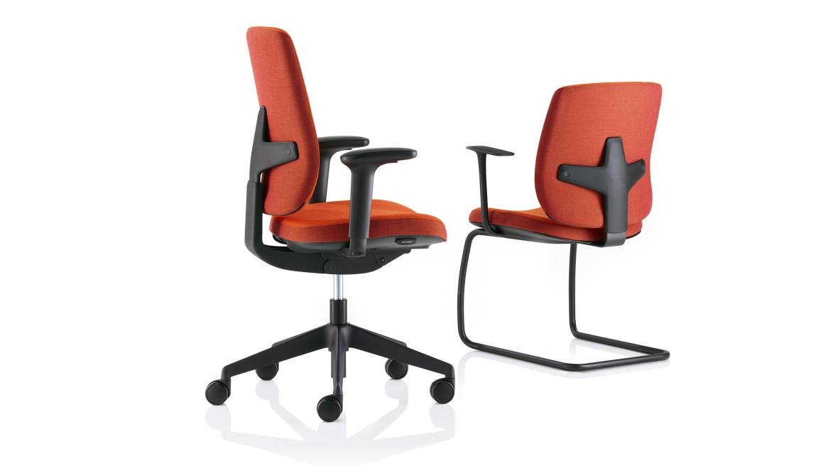Seren Meeting Orangebox Guest Chairs On White