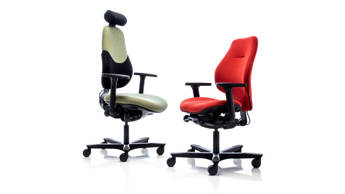 Spira Plus Orangebox Office Chairs On White