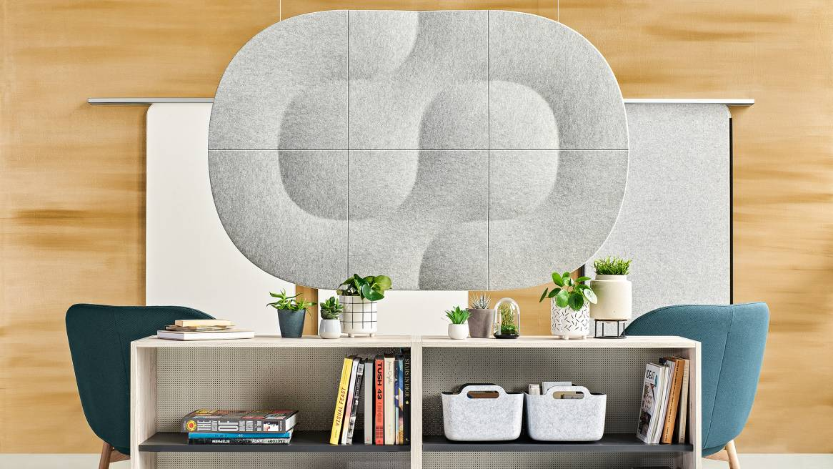 Truchet Acoustic Tiles and Share It Open Shelves