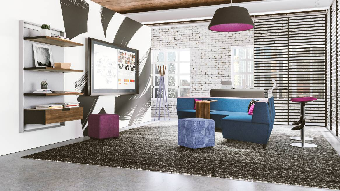 FlexFrame, wood, media:scape lounge, Lox stool, bfree, b-free cube