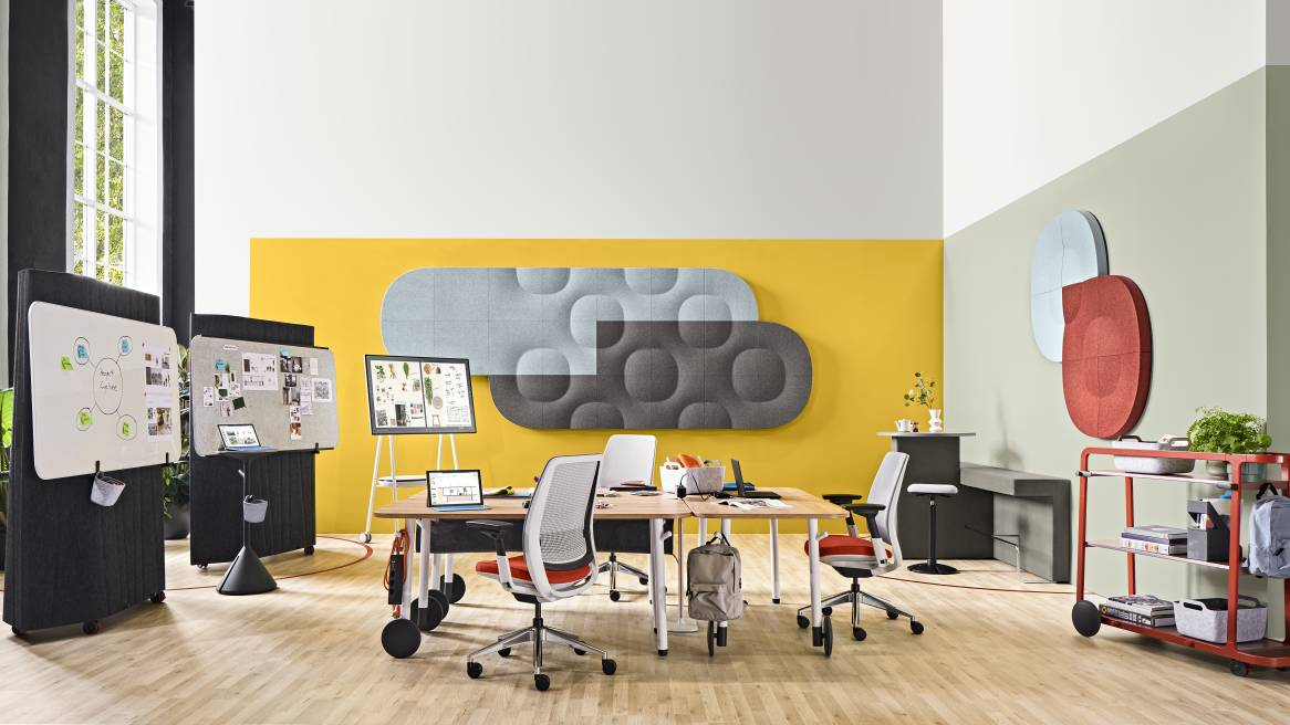 Flex, Steelcase Flex Collection, Steelcase Series 2, Truchet Tiles, Acoustic Tiles, Orangebox Border, Border, Steelcase Roam, Roam