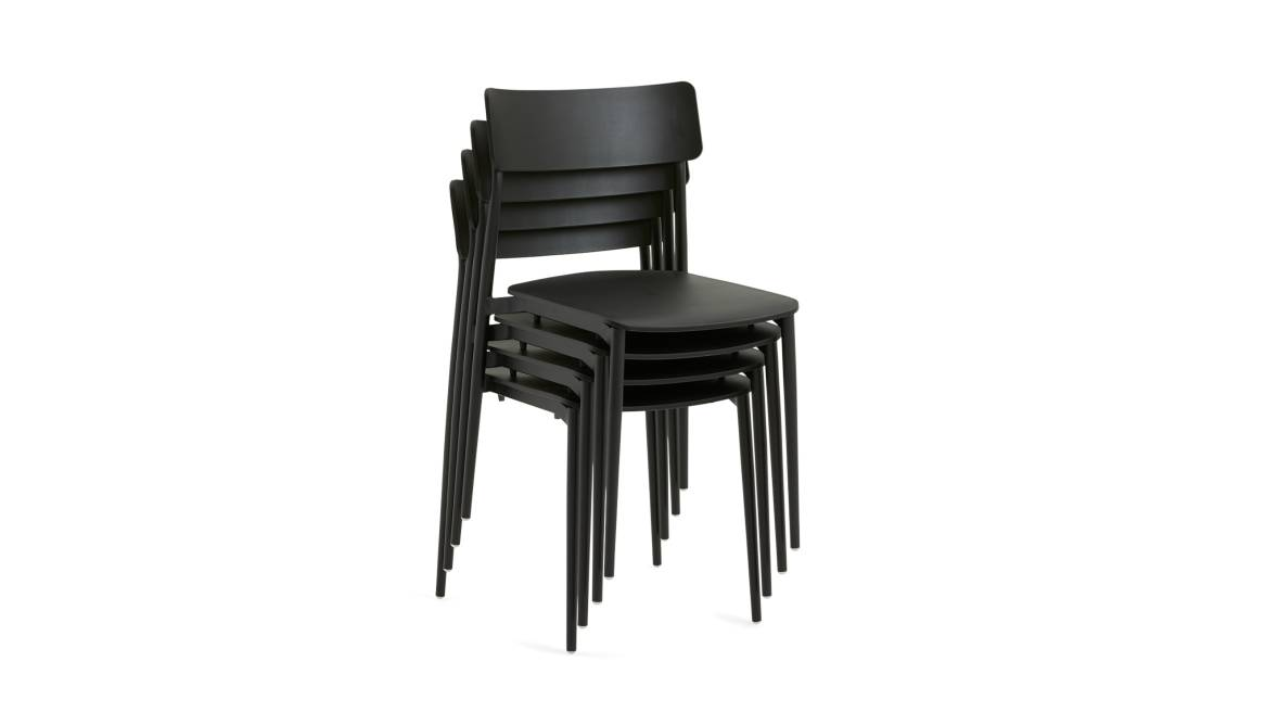 stacked Simple Chairs in black
