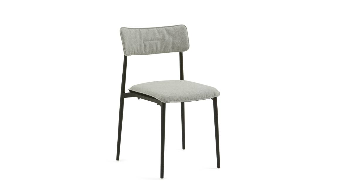 Turnstone Simple Chair with gray cushion on seat and back