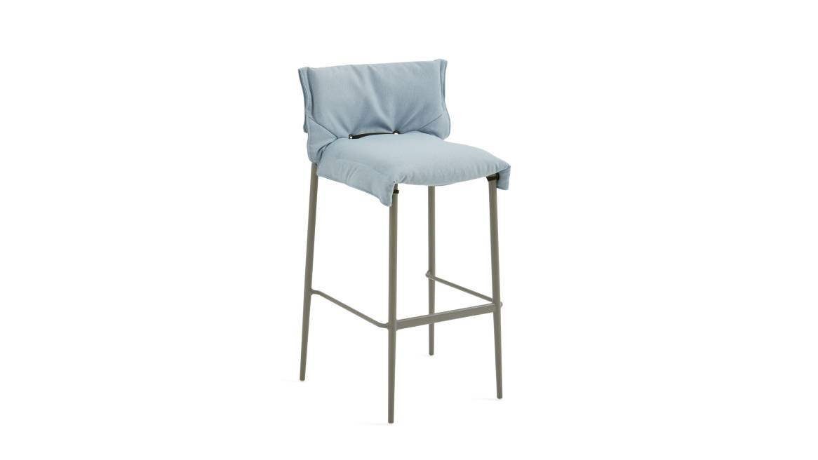 Simple Stool with slipcover