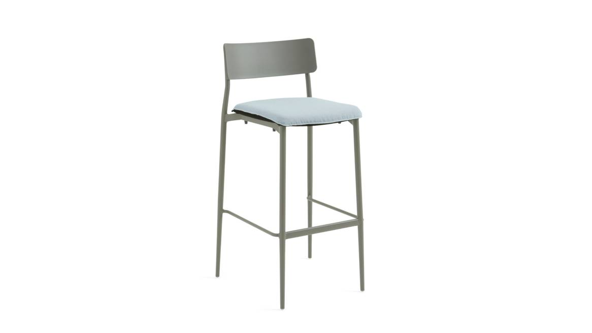 Simple Stool with Seat Cushion