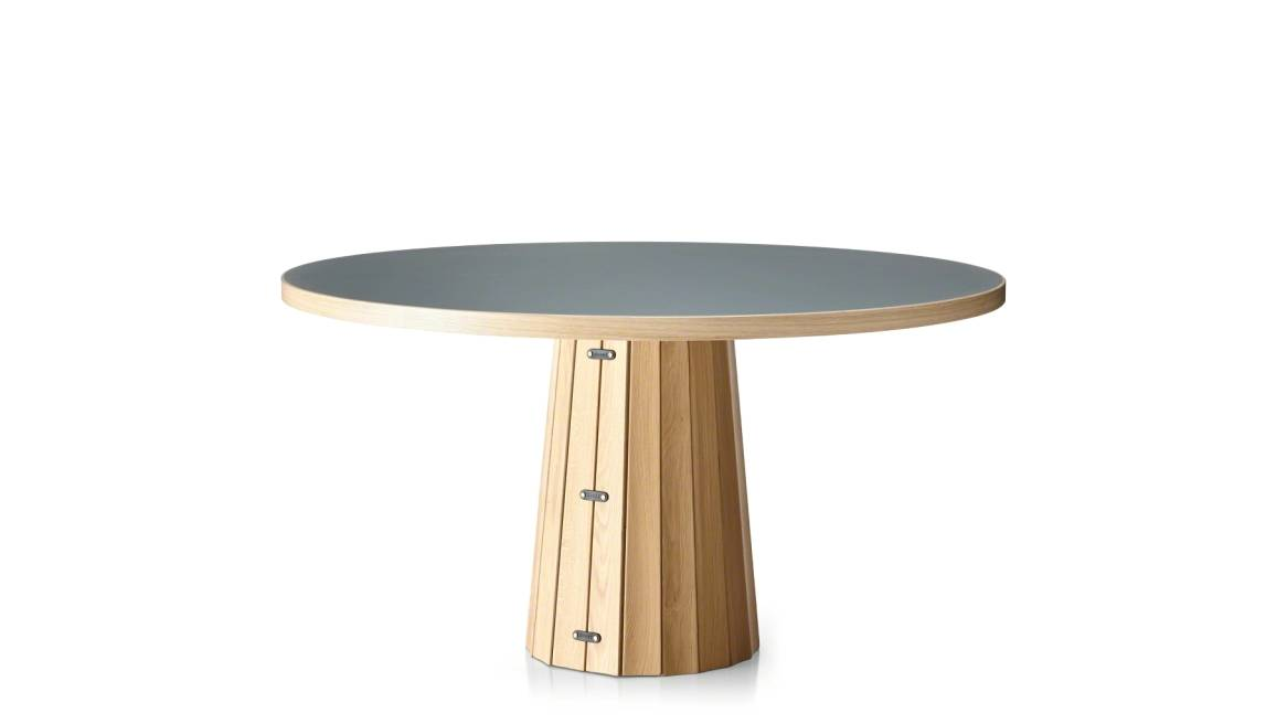 on-white image of a short Moooi table with round surface