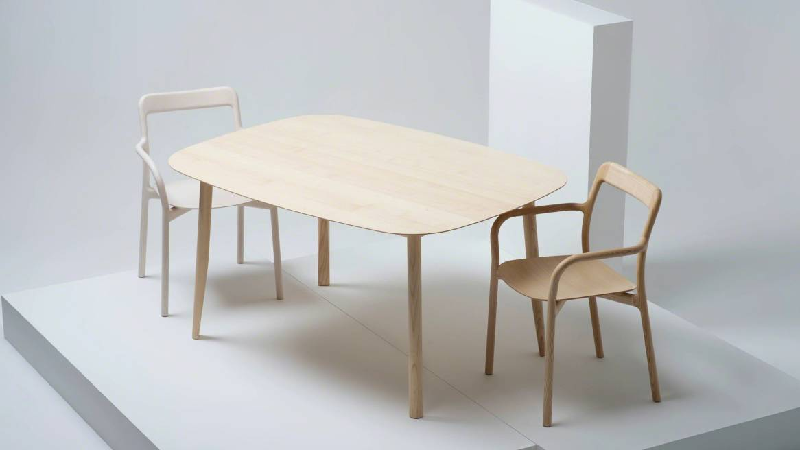 Branca table and branca chairs