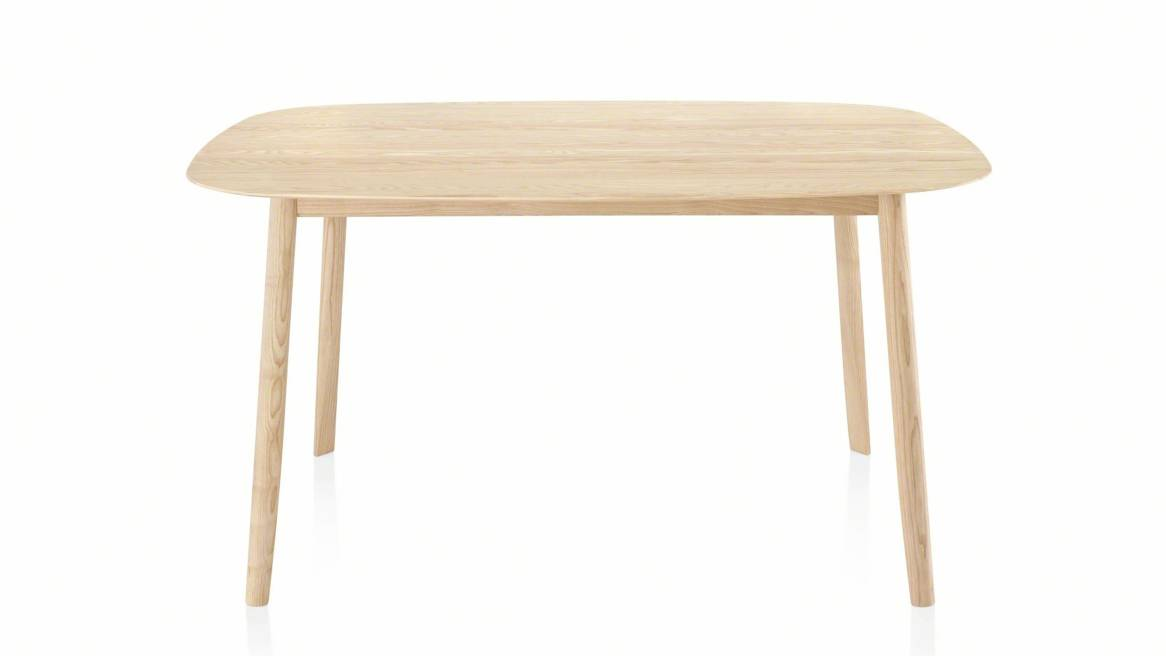 Branca table in a natural ash color