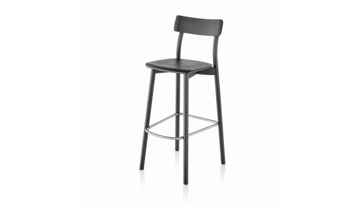 black chiaro stool