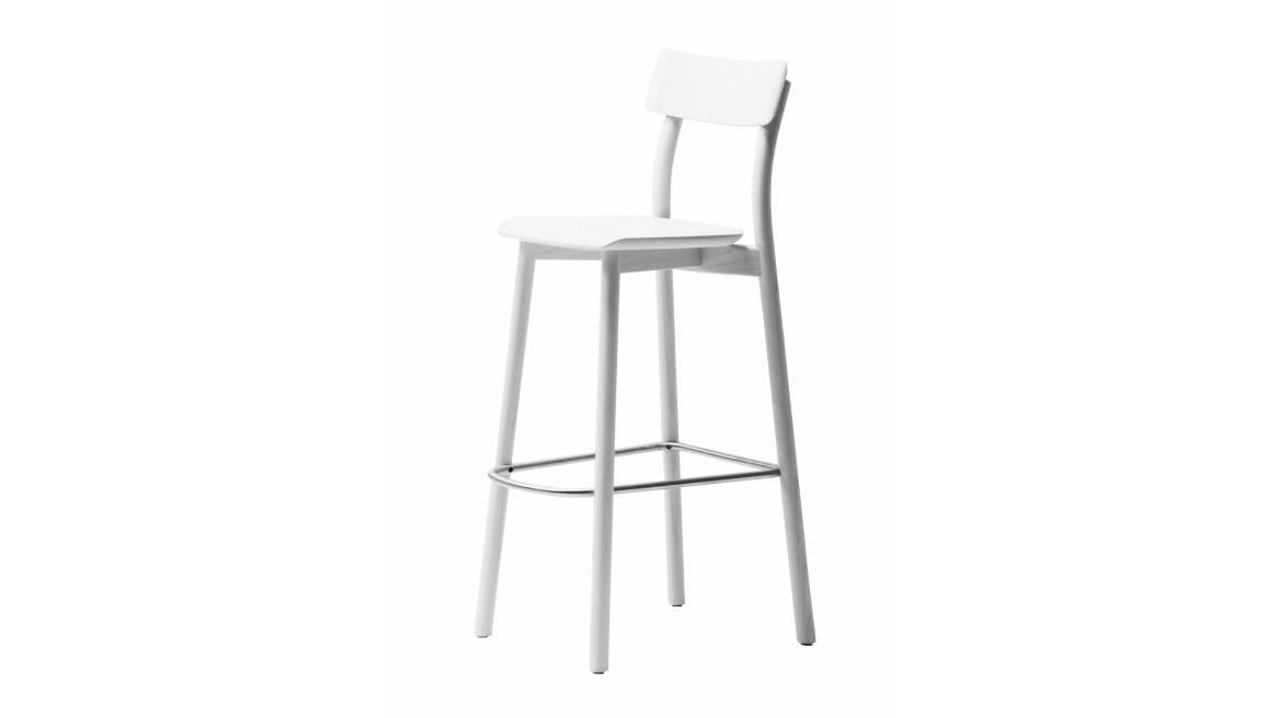white chiaro stool