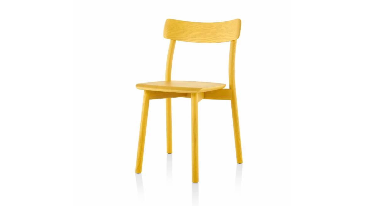 yellow Chiaro armless chair