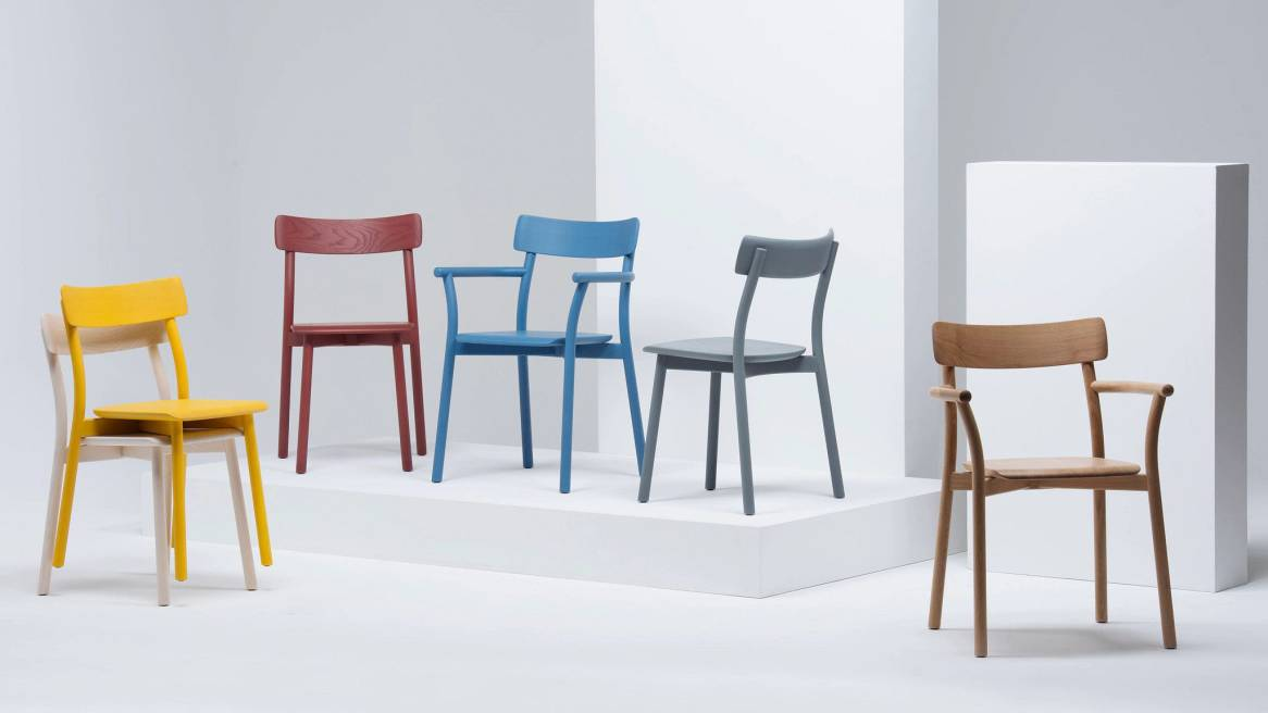 collection of Chiaro chairs of different colors