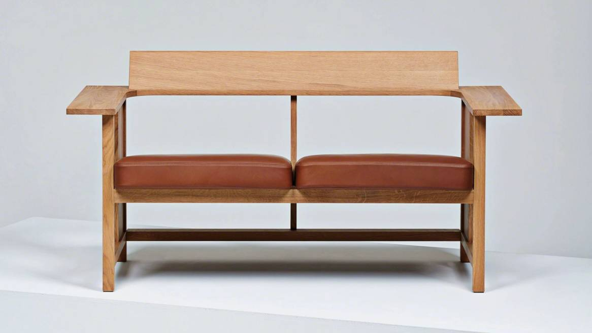 double-seat Clerici lounge in a natural color